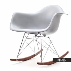 Krzesło bujane MPA ROC szare Sit Back And Relax, Rocking Chair, Chairs, Furniture, Design, Home Decor, Chair Swing, Rocking Chairs, Decoration Home