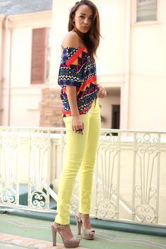 yellow jeans! Love!