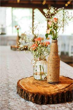 Centre de table Mariage Champêtre - Mariage Vintage - Wedding ...