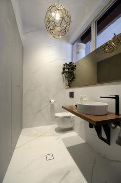 Ah-mazing powder rooms revealed on The Block Glasshouse. Check them out at stylecurator.com.au now! #marble #wood #metallics