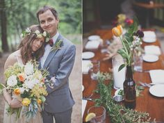 Bohemian Big Sur Wedding shot by Evynn LeValley Photography
