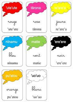 ID en vrac autour de l'éducation: Les couleurs en TAHITIEN