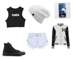 """Untitled #22"" by danandphillover on Polyvore featuring Converse and One Teaspoon"