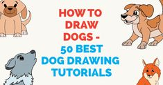 Have fun drawing from these 50 selected dog drawing tutorials. Each How to Draw a Dog tutorial has easy step by step instructions or video tutorial. Girl Drawing Easy, Easy Drawing Steps, Easy Drawings For Kids, Cool Drawings, Pencil Drawings, Basic Drawing, Art Clipart, Image Clipart, Dog Drawing Tutorial
