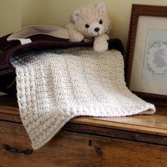 Baby Blanket Pattern - Ivory Dawn. PDF Crochet Pattern available at Hidden Meadow Crochet.