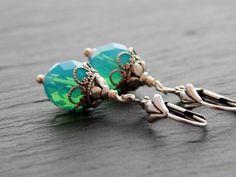 Ohrringe - Karibisches Silber von Perlenfontäne auf DaWanda.com