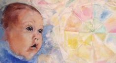 Et af mine malerier, der viser hvordan et lille barn oplever umiddelbart og rent