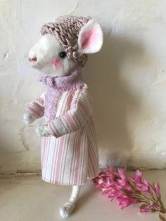 My first Mouse kit Mollie Makes, Make Your Own, How To Make, Lamb, Awards, Teddy Bear, Kit, Dolls, Handmade