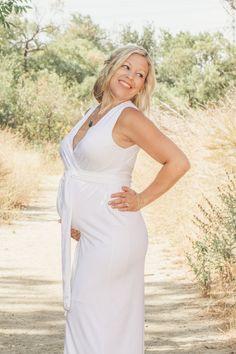 ccb4d7ce85564 This mama rocked this white, sleeveless dress. Tina Andrade Photography