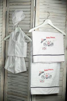 Embroidered Formula 1 boy's Christening lathopana Hamper, Formula 1, Christening, Organization, Boys, Getting Organized, Baby Boys, Organisation, Sons
