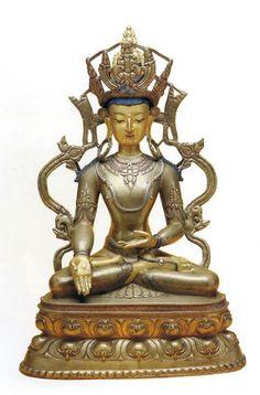 Ratnasambhava Buddha (HimalayanArt) Hermitage Museum, Divine Mother, 14th Century, Tibet, Deities, Asian Art, Statues, Closer, Elephant