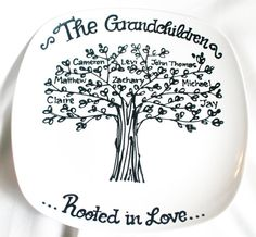 fior mawmaw and pawpaw Grandmother Family Tree Grandchildren by DesignsByRaeSmith on Etsy, $25.00