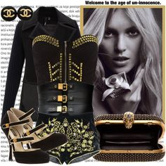 """Black & Gold Size"" by karineminzonwilson on Polyvore"
