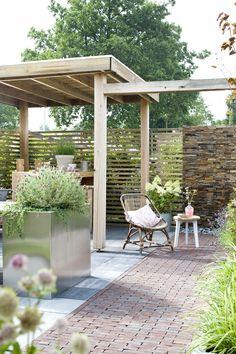 Outdoor Rooms, Outdoor Living, Outdoor Decor, Modern Pergola, Brick Patios, Garden Cottage, My Secret Garden, Back Gardens, Backyard Patio