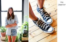 all photos Jen Causey - The Makers Did you happen to catch Caroline Ventura on Jen Causey's The Makers last week? Casual Chic, Casual Wear, Types Of Shoes, Chuck Taylor Sneakers, Cool Girl, How To Look Better, Clothes For Women, Denim, My Style