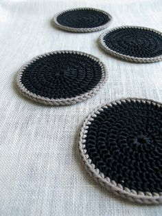 Crochet Coasters Inspiration ❥ 4U // hf
