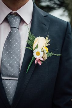 Groom Buttonhole Pretty Spring Garden Wedding Ideas