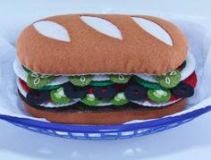 Felt+Food+Pattern+Felt+Sub+Sandwich+Pattern+por+ThePixiePalace