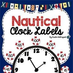 These whale clock labels are perfect for your nautical classroom and will make telling time so much easier! Place them around your classroom clock to help your students tell time to the nearest 5 minutes. Classroom Clock, First Grade Classroom, New Classroom, Kindergarten Classroom, Classroom Themes, Classroom Organization, Classroom Management, Classroom Environment, Elementary Math