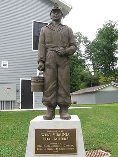West Virginia Coal Miners Monument, Beckley Exhibition Coal Mine by Dan Stiver