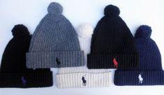 best website 10302 31869 NWT Men s RALPH LAUREN POLO Skull Cap Beanie Ski Hat BIG PONY Pom Pom Ski  Hats