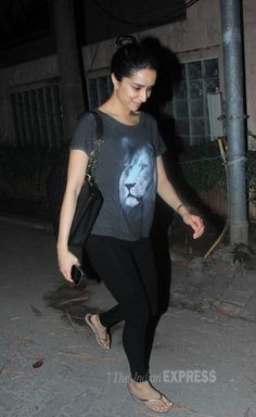 Shraddha Kapoor coming out of a recording studio. #Bollywood #Fashion #Style #Beauty