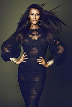 Iman Abdulmajid, former supermodel and at 60...damn!!
