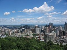Montreal from the top of the mountain. Montreal Quebec, Montreal Canada, Laval, Summer 3, Where To Go, Continents, San Francisco Skyline, Wander, Places Ive Been