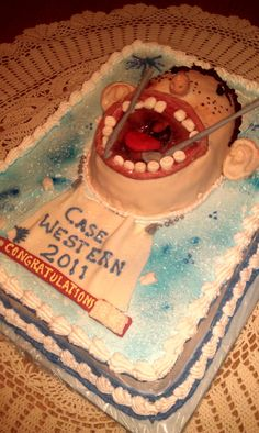 Funny cake for Case Western dental school