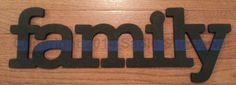 Family Thin Blue Line by SadieSunflower on Etsy, $20.00