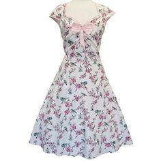 Cream Birdcage Isabella Rockabilly Dress