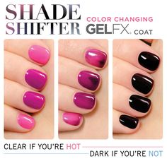 This nail polish top coat changes color based on your temperature for two colors in every one manicure...this is kind of AMAZING!!!