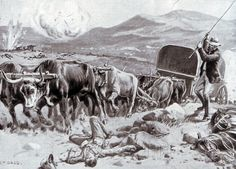 Ammunition wagon withdrawing under fire from Colenso at the Battle of Colenso on 15th December 1899