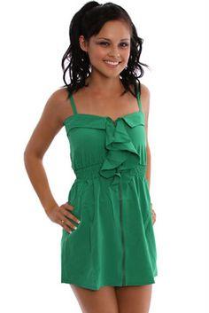 ruffled zipper dress
