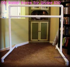 createbellacreate: DIY Tutorial Free Standing Ballet Barre {How to Make}