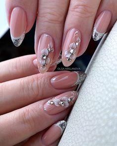 Дизайн ногтей — Разное | OK.RU Sexy Nails, Trendy Nails, Orange Nails, Pink Nails, 3d Flower Nails, French Tip Acrylic Nails, Plaid Nails, Floral Nail Art, New Nail Designs
