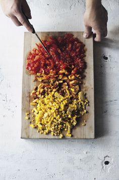 Corn, Nectarine, & Tomato Salsa | Suvi sur le vif // Lily