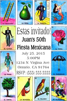 For one of the boys' birthdays! Mexican Birthday Parties, Mexican Fiesta Party, Fiesta Theme Party, 18th Birthday Party, 50th Party, Birthday Ideas, Mexican Invitations, Party Invitations, 60th Birthday Invitations