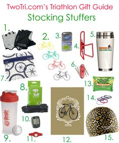 Stuff your triathlete stockings with these great gift ideas! #TwoTri