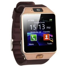 Valuetom Smartwatch Bluetooth Smart Watch Wristwatch with Pedometer, Anti-lost, Camera, Video Recorder for Samsung Huawei Android SmartPhones, Gold. Good Quality Only compatible for the Android. Wrist Watch Phone, Camera Watch, Fitness Tracker, Fitness Goals, Health Fitness, Radios, Mobiles, Android Watch, Technology