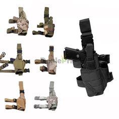 Adjustable Tactical Army Pistol Gun Drop Leg Thigh Holster Pouch Holder USA Belt | eBay