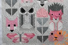 Fancy Forest Baby Quilt - Edge to Edge Machine Quilting by Natalia Bonner