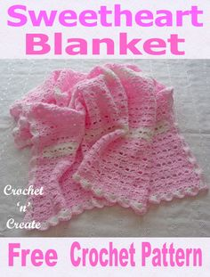 Welcome the new arrival with a hand made crochet blanket, get this FREE baby crochet pattern on Crochet Sweetheart Baby Blanket Free Crochet Pattern janice thomas crochet Welcome the Crochet Baby Shawl, All Free Crochet, Crocheted Afghans, Kids Crochet, Booties Crochet, Baby Afghans, Crochet Blankets, Baby Patterns, Knitting Patterns