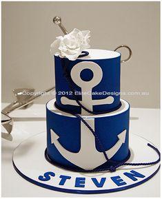 Nautical Theme Cake this is destine !!!! my boys name is steven