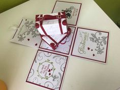 Stampin' UP! – Melli's StempelParadies Exploding Boxes, Stampin Up Cards, Playing Cards, Explosion Box, Hide Money, Boxes, Packaging, Tutorials, Christmas