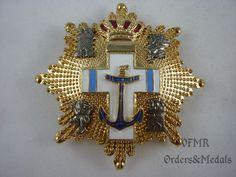 Spain - Order of Naval Merit, Grand Cross blue (merits in UN mission) M2003