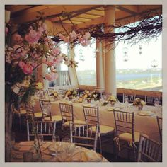 #Stoneblossom #designs flowering branches at The Chanler