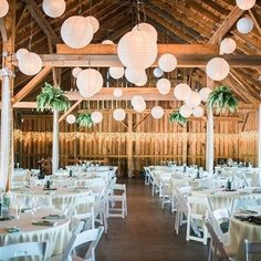 Farm wedding decorated with paper lanterns  Boerenschuur sfeervol versierd met witte lampionnen.   #lampion #lampionnen #feest #huwelijk #horeca #wedding #weddingdecor #weddingplanner #event #events #trouwen #stylist #styling #decoration #bruiloft #romantic Weddingideas  Huwelijks ideeën Bruiloftsborden  Hangende lantaarn Fete de mariage Heiraat dekoration