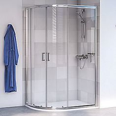 Aqualux Edge 6 Quadrant Shower Enclosure LH/RH Polished Silver 800 x 800 x Shower Base, Glass Shower, Tall Cabinet Storage, Locker Storage, Quadrant Shower Enclosures, Double Sliding Doors, Small Showers, Shower Cubicles, Shower Cleaner