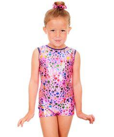 Look at this TumbleWear Hot Pink Party Time Ryah Biketard - Toddler & Girls on #zulily today!